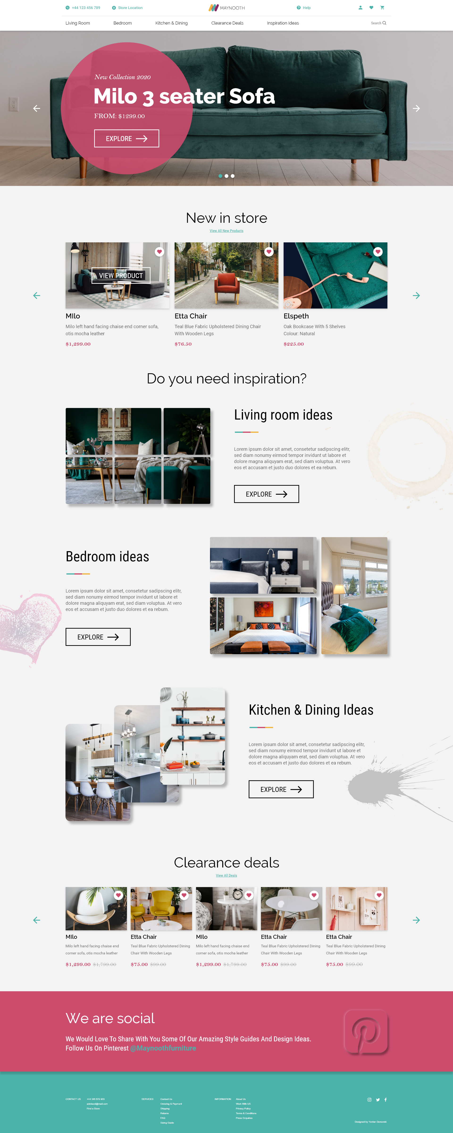 ui design home page maynooth