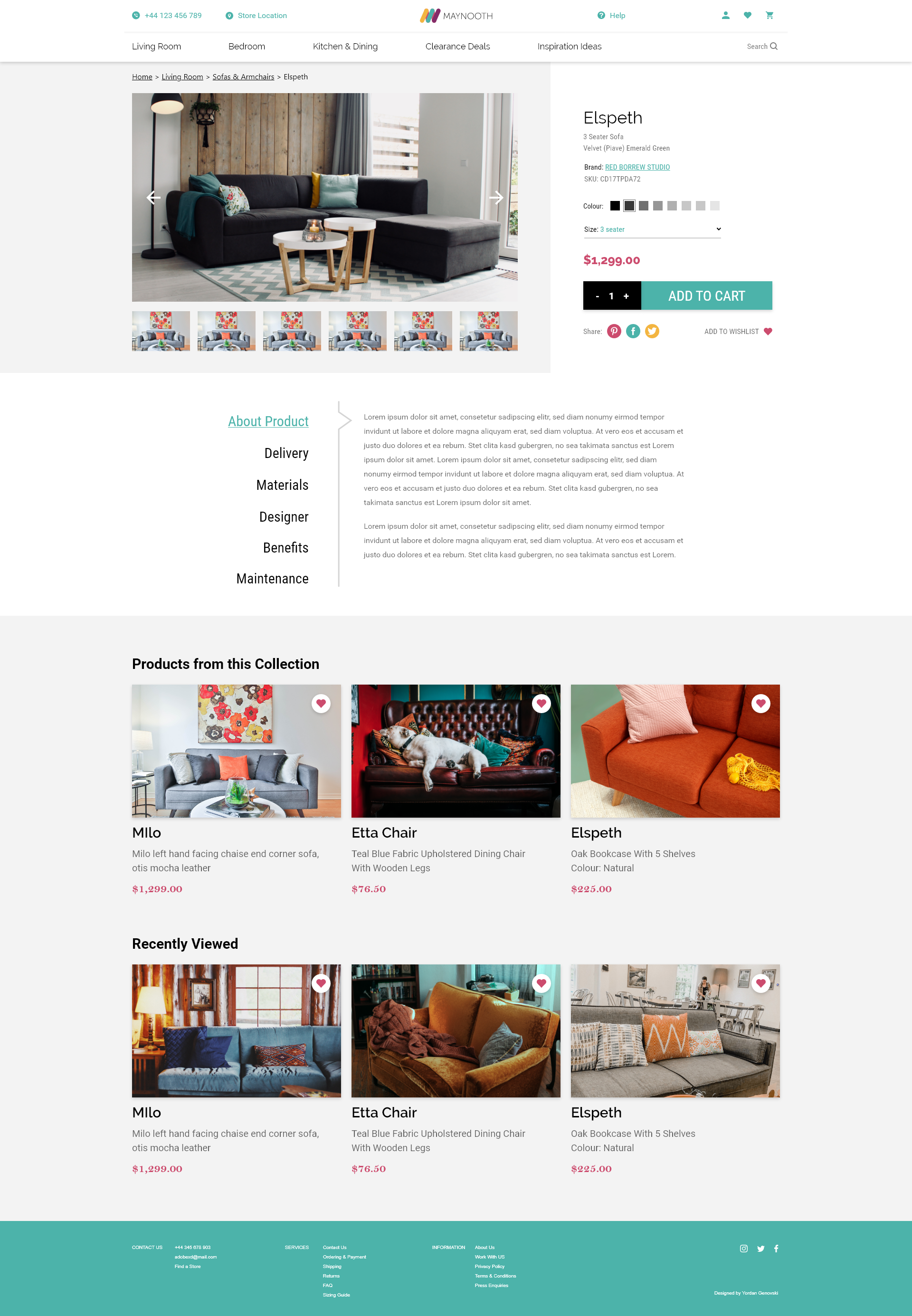 ui design product page maynooth