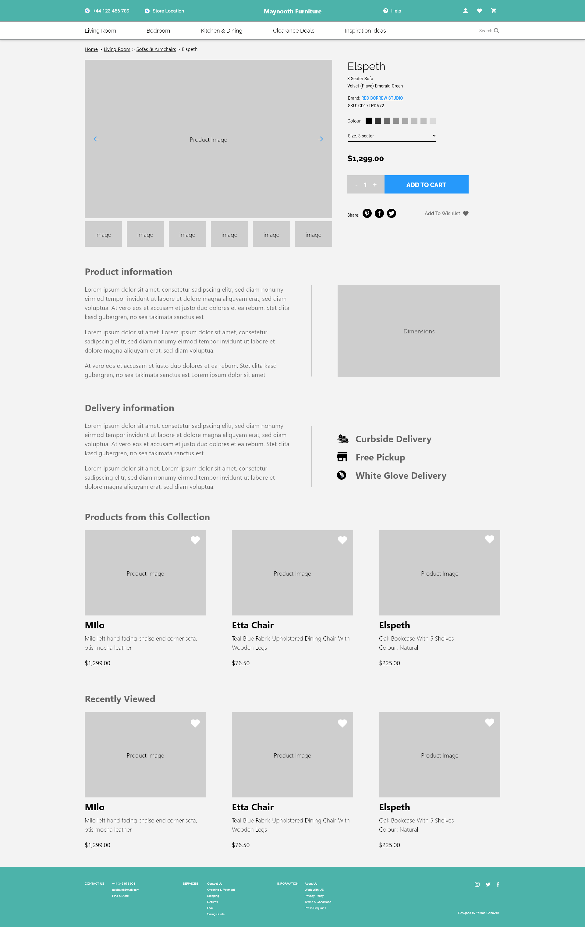ux design product page maynooth